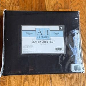 At Home Queen 4 pieces sheet set Black
